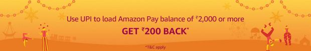 Use UPI to Load Rs. 2000 balance, Get Rs. 200 back