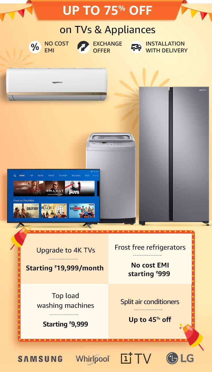 Amazon TV & appliances sale 2019
