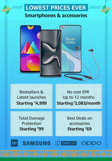 Smartphones & accessories Up to 70% off , Amazon next Great Indian sale on Republic Day