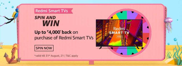 What are the screen sizes that Redmi Smart TV is available in?