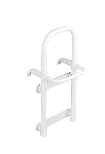 WENKO Badewannen-Einstiegshilfe Secura, verstellbar, 120 kg Tragkraft, 23 x 52.5 x 24.5 cm, weiß