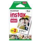 Fujifilm Instax Mini Brillo - Película fotográfica instantánea (4 x 10 hojas), color blanco
