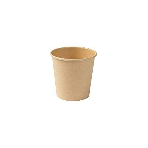 BIOZOYG Bicchieri di Carta Ecologici Tazze da caffè Marrone Non Sbiancate I Tazza Espresso Bicchiere Degustazione I 1000 Tazze caffè da Asporto Tazza Monouso Biodegradabile 100 ml 4 oz