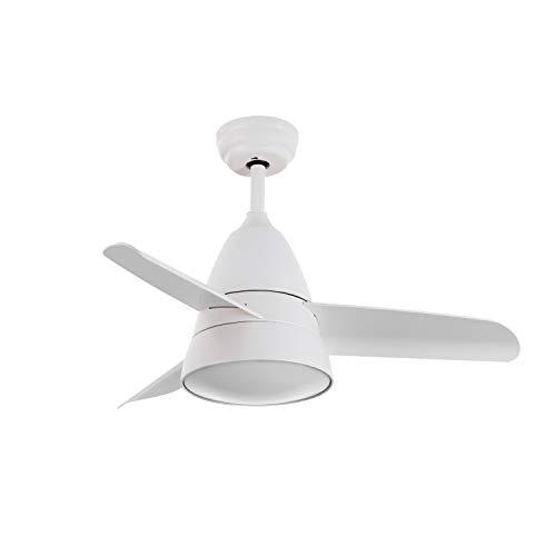 LEDKIA Ventilatore LED da Soffitto Industrial Tª Colore Selezionabile 15W Bianco Selezionabile...