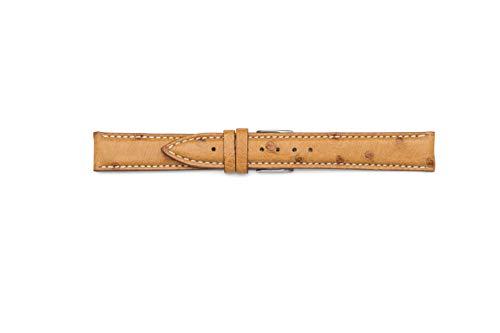 Cinturino di vero Struzzo compatibile per Jaeger le coultre (20-16, Cognac)