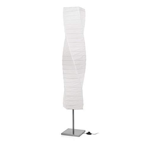 Smartwares 6000.040 Twister - Lámpara interior, acero pulido, papel, blanca