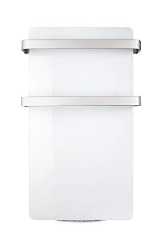 Haverland HERCULES-15 | Radiateur Seche-serviettes Electrique | Programmateur LCD | 1500 W | Soufflerie 1000 W | Design Elegant |Panneau en Verre Rayonnant | Blanc