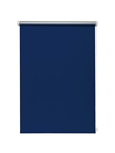 Beyond Drape Thermo-Rollo ohne Bohren Verschiedene Größen und Farben Verdunkelungsrollo Seitenzugrollo Klemmrollo Blackout Silberbeschichtung Blau 60x150 cm