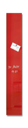 Sigel GL104 Lavagna magnetica di vetro / bacheca di vetro artverum, rossa, 12 x 78 cm