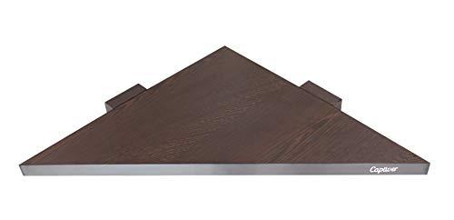 Captiver Delta Corner Wall Shelf Unit Wenge ,29.5 X 29.5 X 68 cm