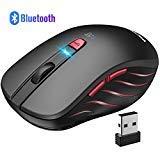 VicTsing Bluetooth Maus und 2.4G kabellose Maus mit 5 verstellbare DPI, 6 Tasten, Wireless Bluetooth 4.0 Mouse Energiesparend, Multi-Device Funkmaus für Windows 10, Laptop, Mac, Tablet and Android