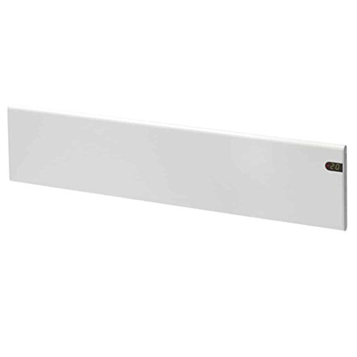 Adax NEO Modern Electric Skirting Panel Heater Thermostat and Timer/Convector Radiator, Flat Panel, Wall Mounted 5 Year Guarantee, White, 600W