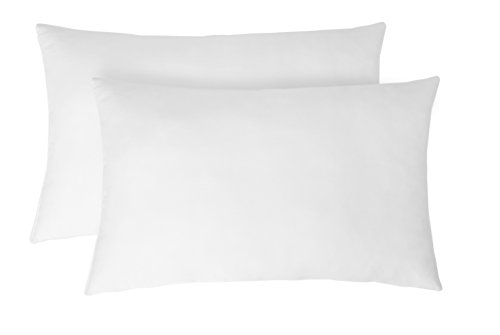 "Amazon Brand - Solimo 2-Piece Ultra Soft Bed Pillow Set 17 x 27"", White"