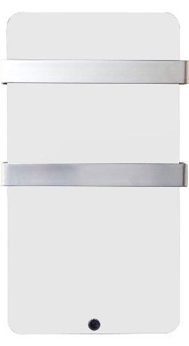 Haverland XTAL4B - Seca-toallas de cristal, termostato digital, 400 W, color blanco
