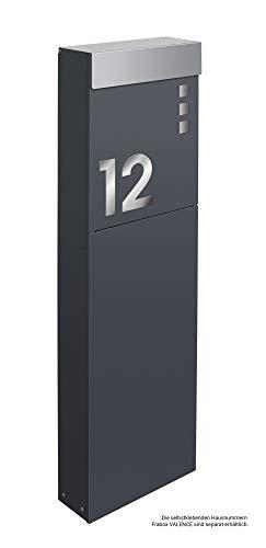 Frabox® Standbriefkasten NAMUR anthrazitgrau RAL 7016 & Edelstahl - Qualität Made in Germany! - 4