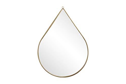 LIFA LIVING Specchio a Goccia da Parete, Specchio Decorativo con Cornice Dorata, Design Vintage, per Salotto, Cucina, Ingresso, Bagno, 40.5 x 56 x 1.5 cm
