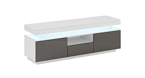 muebles bonitos Mobile TV Modello Persis (130cm) Bianco e Grigio
