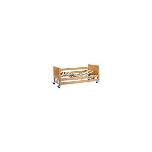 INTERMED - Letto elettrico ad altezza variabile con sponde in legno e alzamalati ad innnesto