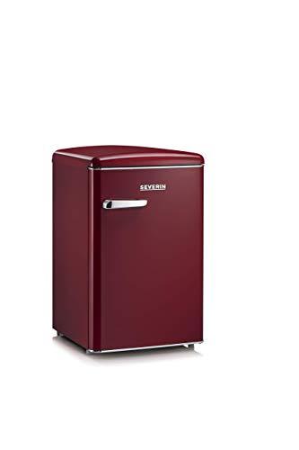 Severin RKS 8831, Frigorifero - Congelatore 106 Litri, design Retrò, colore Amaranto