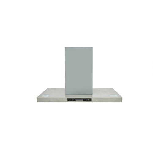VidaXL 50117, Cappa Aspirante da Cucina a Isola in Acciaio Inox con Display LCD, Argento (Silver)