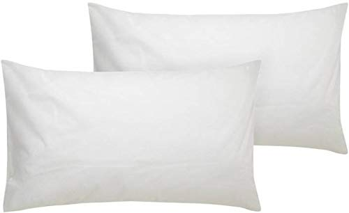 "PumPum 2 Piece Textrise Black Fiber Pillow Set - 16""x24"" Inch,White"