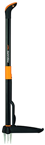 Fiskars Unkrautstecher, Länge: 1 m, Rostfreie Stahl-Arme/Kunststoff-Griff, Schwarz/Orange, Xact, 1020126