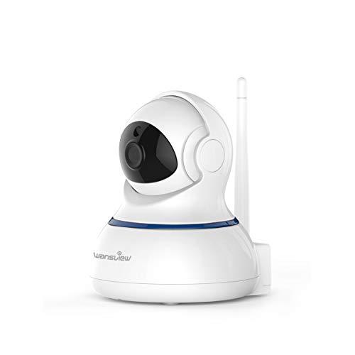 Wansview WLAN IP Kamera 1080P, WiFi Überwachungskamera als Home/Baby Monitor mit Schwenk und Neige, Zwei-Wege Audio, Nachtsicht Funktion, Micro SD Kartenslot und deutsche App/Anleitung Q3-S Weiß