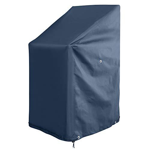 GardenMate® Oxford Polyester Schutzhülle für Gartenstühle 65 x 65 x 80/120 cm - ANTHRAZIT - Premium Qualität aus hochwertigem 220GSM Oxford Polyester Material