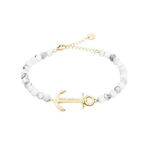 Paul Hewitt - Pulsera para Mujer con Ancla y Perlas en Aspecto de mármol