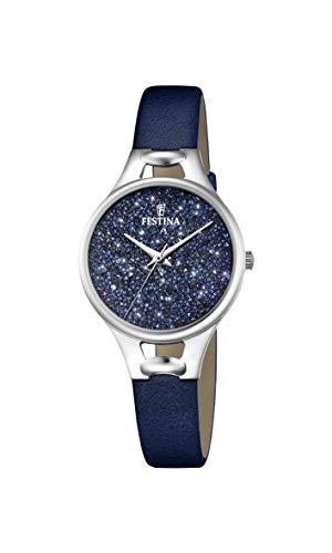Festina Damen Analog Quarz Uhr mit Leder Armband F20334/2