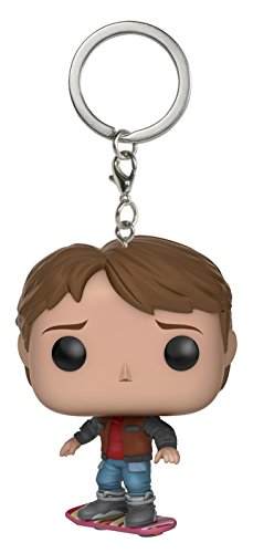 Funko- Pocket Pop Keychain BTTF Marty on Hoverboard, 10661-PDQ