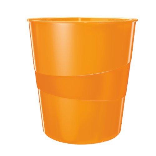 Leitz Papierkorb, 15 Liter, Kunststoff, Orange Metallic, WOW, 52781044