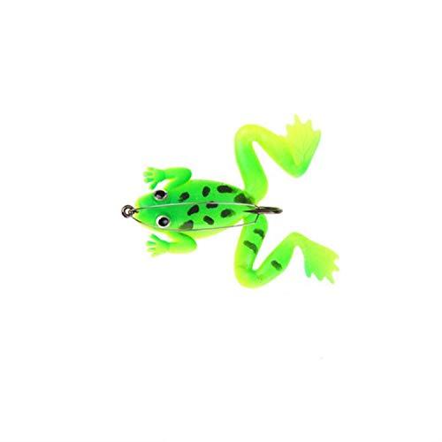 Small Lake 1 pz/Lotto 6 cm / 5.2g Pesca Richiamo di Pesca Pesca Artificiale Esca in Silicone Rana Richiamo con Gancio Morbido Fishing Frog Esche Attrezzatura da Pesca 2 60mm