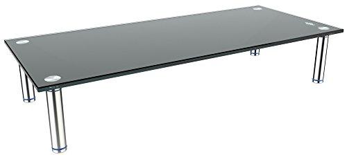 """RICOO TV Ständer Monitorständer Bildschirmständer Podest FS7828B Universal Standfuß Rack Fernsehständer LCD QLED QE 4K LED OLED IPS SUHD UHD 3D Curved/ 76cm/30-140/55"""" Zoll/Schwarz"""