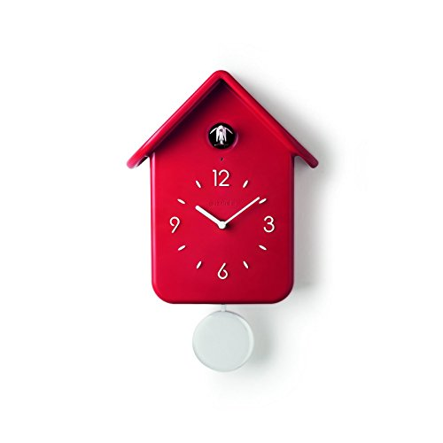 Guzzini Orologio Qq Home, Rosso, 24.8 x 12 x h39 cm