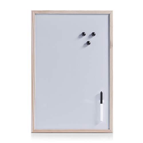 Zeller 11121 - Lavagnetta magnetica, 60 x 40 cm, colore: Grigio