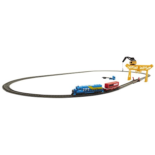 Power Trains Starter Set with Port Cargo Loader Crane Train Play