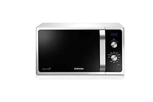 Samsung MG23F301ECW Forno a Microonde, 800 W, Grill 1100 W, Rapido Defrost, 23 Litri, Bianco