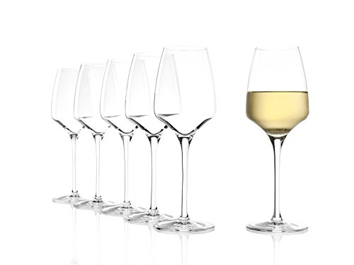Bicchieri da vino bianco Stölzle Lausitz della serie Experience 350ml, set da 6, resistente ai...