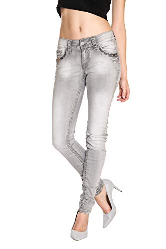 Blue Monkey Damen Jeans Lucy-3992 Grau 28/32