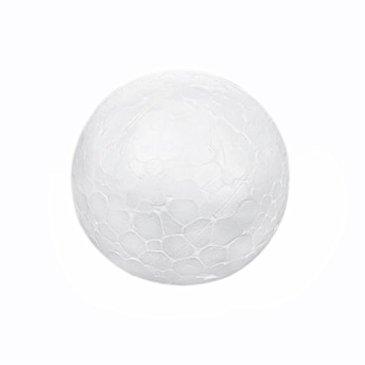 SODIAL(R) 10 x Decoration de Noel Modelisme Artisanat Polystyrene Boule de Mousse Sphere 6cm—Blanc