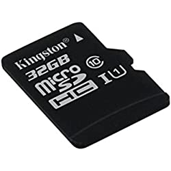 Kingston SDCS/32GBSP - MicroSD Canvas Select velocidades de UHS-I Clase 10 de hasta 80 MB/s Lectura (sin Adaptador SD)