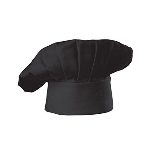 BESTOMZ Gorro de Cocinero Sombrero de Chef Estilo Seta para Restaurante Cocina (Negro)