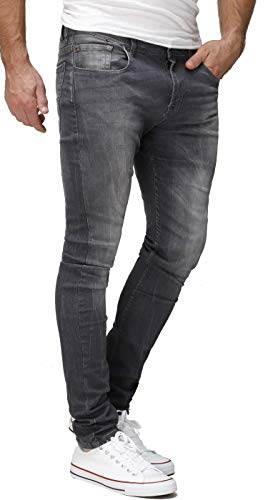 Crone Primo Basic Herren Jeans Hose Stretch Washed Slim Fit Jeanshose...