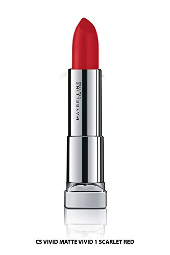 Maybelline New York Color Sensational Lipstick, Vivid Scarlet Red, 3.9g