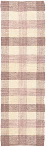 CarpetFine: Tappeto Die Lana Kilim Ella Passatoia 75x240 cm Beige - Monocromatico