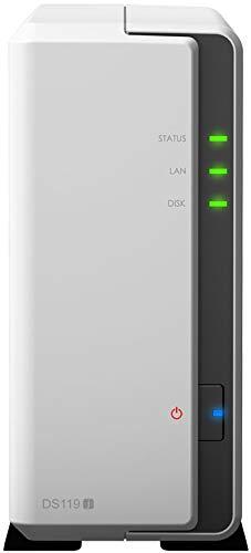Synology DiskStation DS119j Collegamento ethernet LAN Torre Grigio, Bianco NAS