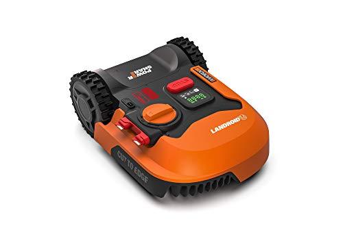 Worx Tagliaerba Robot da Giardino Landroid WR141E, Rasaerba Elettrico a Batteria 20 V, Tosaerba 3 Lame Mobili, Senza Fili