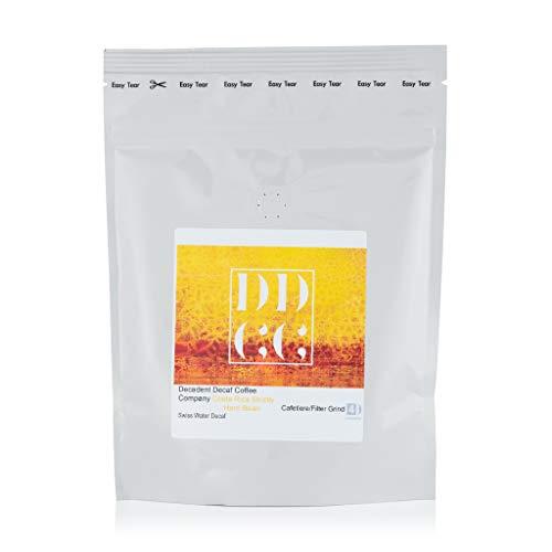 Koffeinfreier Kaffee aus Costa Rica, mittels Schweizer-Wasser-Prozess entkoffeiniert, Decadent Decaf Coffee Company, gemahlen für Cafetière-Filterkaffee, 227g