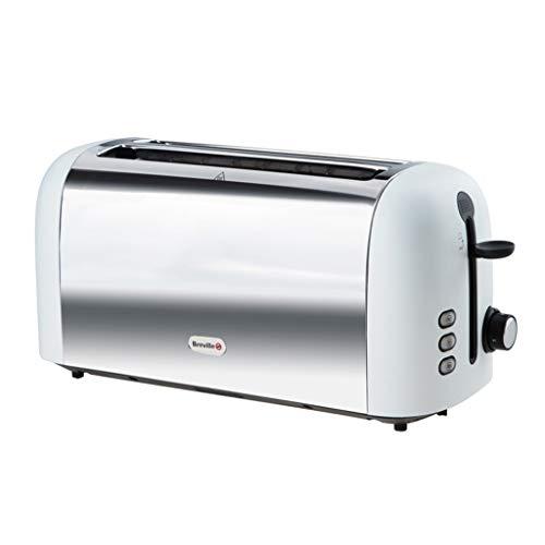 Forno per Toast da Colazione Allargato Ed Esteso A Doppia Vasca, 2 Tostapane, Cotto Automaticamente...